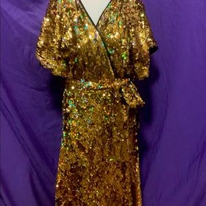 🔥HOST PICK🌟 Love Ur Look UK Sequin Wrap Dress
